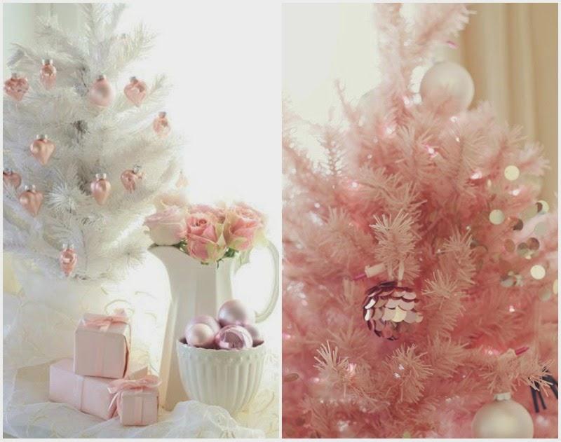 Chic deco christmas pink piensa en chic - Decorar en navidad mi casa ...