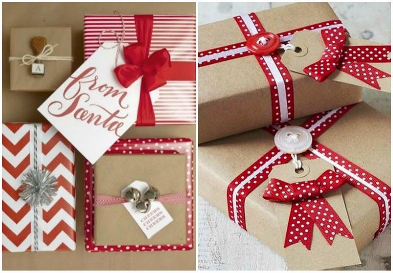 Chic christmas chic deco envolver regalos para navidad - Envolver regalos de navidad ...