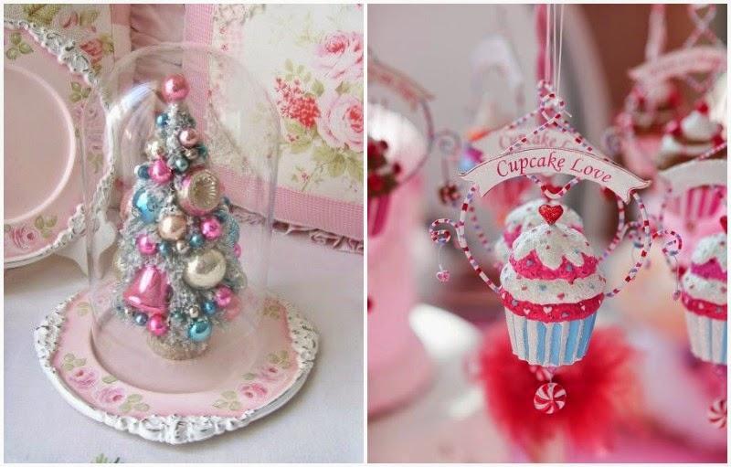 Chic deco christmas pink piensa en chic - Arboles de navidad rosa ...