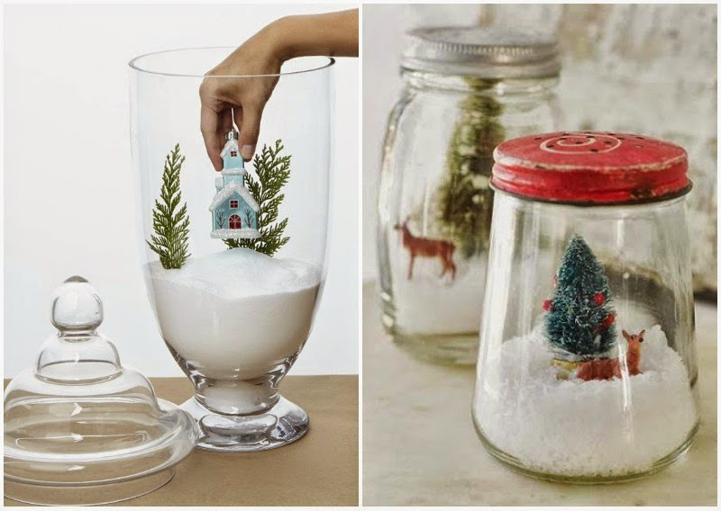 Chic deco chic diy christmas terrariums piensa en chic for Ideas para christmas de navidad