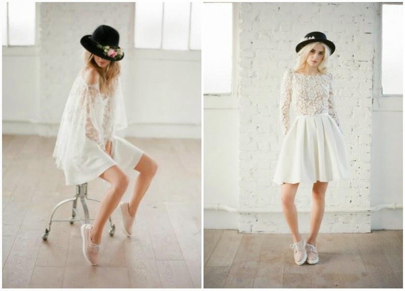 Vestidos blancos modernos cortos